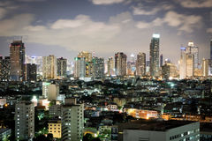 City in the bright night. The city in the bright night Stock Images