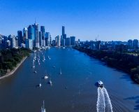 City of brisbane royalty free stock images