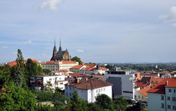 City - Brno. View of the city of Brno, the Czech Republic Stock Image