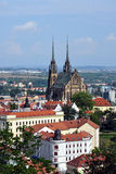 City - Brno. View of the city of Brno with the Church of St. Peter and St. Paul Royalty Free Stock Images