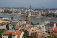City of Budapest. The city of Budapest view from above Royalty Free Stock Photo