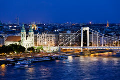 City of Budapest at Night Royalty Free Stock Photos