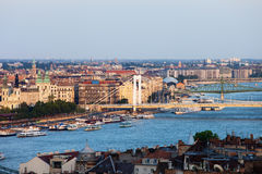 City of Budapest at Sunset Royalty Free Stock Images