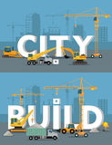City Build Vector Concept in Flat Design Royalty Free Stock Image