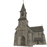 City Building Church. 3D rendering with clipping Stock Photo