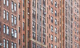 City building facade with pattern windows Royalty Free Stock Photo