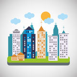 City and Building icon design , vector illustration Royalty Free Stock Image