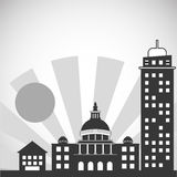 City and Building icon design , vector illustration Royalty Free Stock Photo