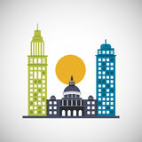 City and Building icon design , vector illustration Stock Images