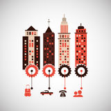 City and Building icon design , vector illustration Royalty Free Stock Images