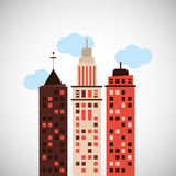 City and Building icon design , vector illustration Stock Image