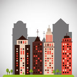 City and Building icon design , vector illustration Stock Photography