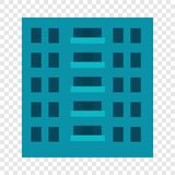 City building icon, flat style stock illustration