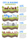 City and building info graphic Royalty Free Stock Images