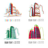 City building logos Royalty Free Stock Images