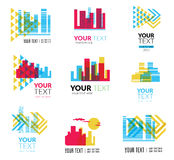City building logos Stock Images