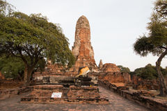 City building remain, Buddha statue of Phra Ram Temple (Wat Phra Ram) ruins in province of Ayutthaya, Thailand Stock Photography