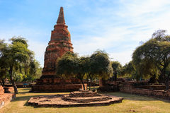 City building remain, Buddha statue remain of Wat Phra Sri Sanphet Temple in Ayutthaya, Thailand (Phra Nakhon Si Ayutthaya&#x Stock Images