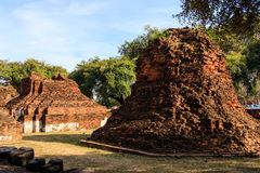City building remain, Buddha statue remain of Wat Phra Sri Sanphet Temple in Ayutthaya, Thailand (Phra Nakhon Si Ayutthaya&#x Stock Image