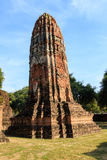 City building remain, Buddha statue remain of Wat Phra Sri Sanphet Temple in Ayutthaya, Thailand (Phra Nakhon Si Ayutthaya&#x Stock Photography