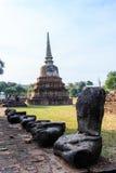 City building remain, Buddha statue remain of Wat Phra Sri Sanphet Temple in Ayutthaya, Thailand (Phra Nakhon Si Ayutthaya&#x Stock Photography