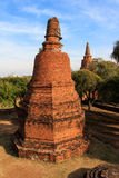 City building remain, Buddha statue remain of Wat Phra Sri Sanphet Temple in Ayutthaya, Thailand (Phra Nakhon Si Ayutthaya&#x Royalty Free Stock Photography