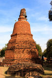 City building remain, Buddha statue remain of Wat Phra Sri Sanphet Temple in Ayutthaya, Thailand (Phra Nakhon Si Ayutthaya&#x Royalty Free Stock Image
