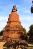 City building remain, Buddha statue remain of Wat Phra Sri Sanphet Temple in Ayutthaya, Thailand (Phra Nakhon Si Ayutthaya&#x Royalty Free Stock Image