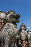City building remain of Temple in Ayutthaya Stock Photography