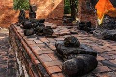 City building remain of Wat Worachet Temple ,The Ancient Siam Civilization Stock Photo