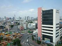 City. Building road construction bangkok royalty free stock images