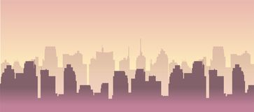 Free City Building Silhouette Vector Cityscape Illustration For You Project. Royalty Free Stock Photo - 141955775