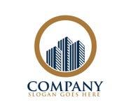 City building skyline house apartment logo design. Template stock illustration
