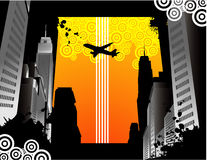 City building vector. Composition illustration Royalty Free Stock Photo