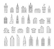 City buildings vector illustration Stock Photo