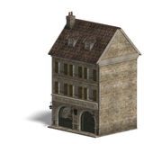 City Building Wine Store. 3D rendering with Royalty Free Stock Photography