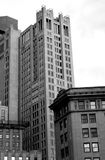 City Buildings. Boston buildings in black and white royalty free stock images