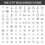 City buildings, architecture, real estate, urban silhouette houses, home, village, town, factory, bridge, skyline line Royalty Free Stock Images