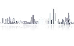City buildings. Architecture in white Stock Photo