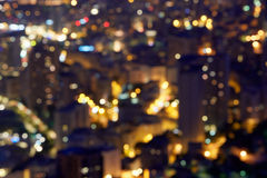 City buildings background at night, unfocused Royalty Free Stock Photos