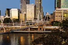 City buildings with bridge Royalty Free Stock Photos