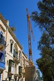 City buildings and crane, Valletta. Stock Images
