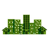 city buildings. Ctiy building icon. Architecture urban modern and metropolis theme.  design. Vector illustration Royalty Free Stock Images