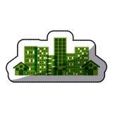 city buildings. Ctiy building icon. Architecture urban modern and metropolis theme.  design. Vector illustration Stock Photography