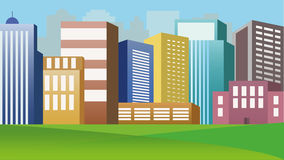 City buildings royalty free illustration