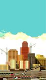 City buildings and freeway Royalty Free Stock Image