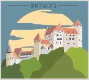 City buildings graphic template. Liechtenstein. Stock Image