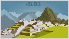 City buildings graphic template. Peru. Machu Picchu Stock Photo