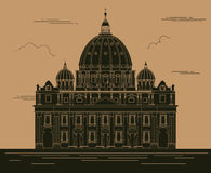 City buildings graphic template. Saint Pyotr Cathedral. Stock Photography