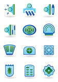City buildings icon set Royalty Free Stock Photo